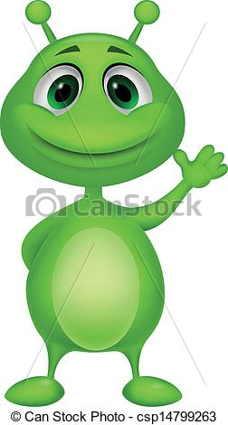 Cute martian clipart.
