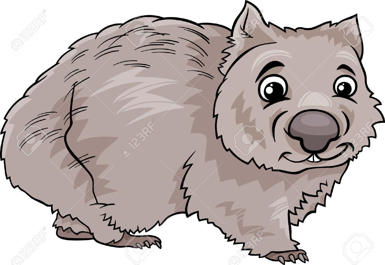 Cartoon Illustration Of Cute Wombat Marsupial Animal Royalty Free.
