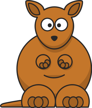 Free Kangaroo Clipart, 1 page of Public Domain Clip Art.