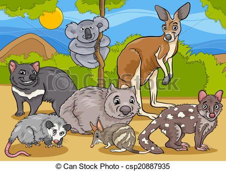Marsupial Vector Clipart EPS Images. 1,403 Marsupial clip art.