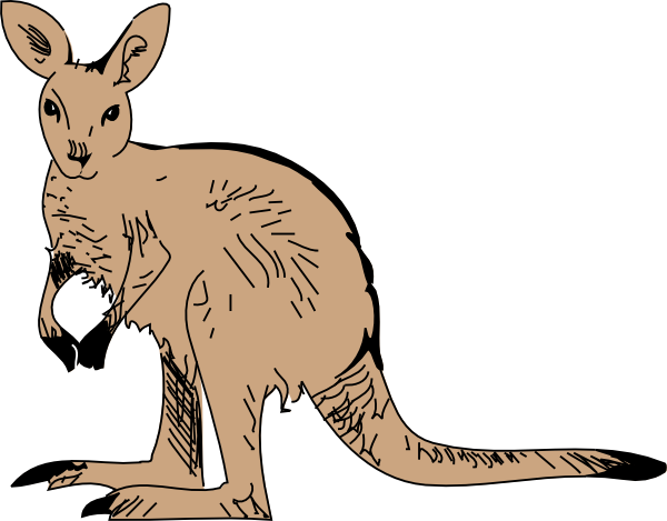 Free to Use & Public Domain Kangaroo Clip Art.