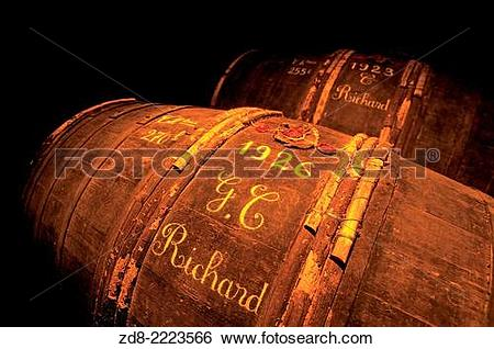 Stock Images of martel cognac cellar. zd8.