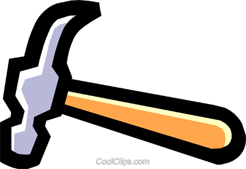 hammer Royalty Free Vector Clip Art illustration.