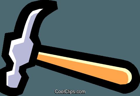 hammer Royalty Free Vector Clip Art illustration.