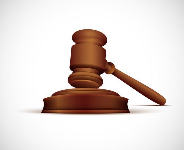 Ilustração de martelo de juiz.