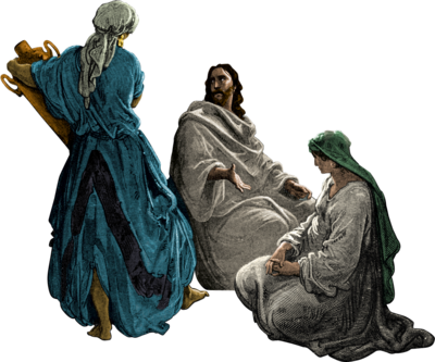 Image: Sprite of Jesus Mary and Martha.