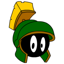 Marvin the martian clipart.
