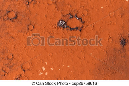 Clipart of Mars surface.