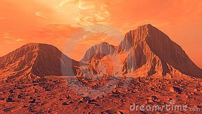 Mars Stock Illustrations.