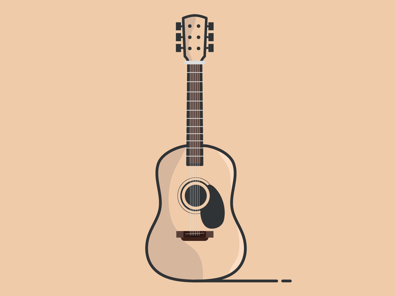 Guitar. by Marzia on Dribbble.