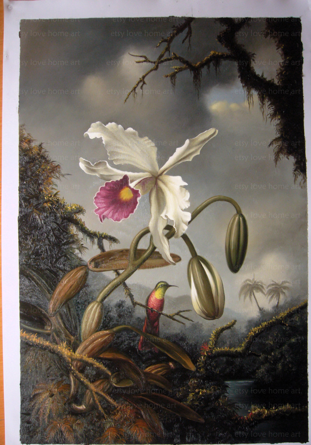 museum quality handpainted martin johnson heade by lovehomeart.