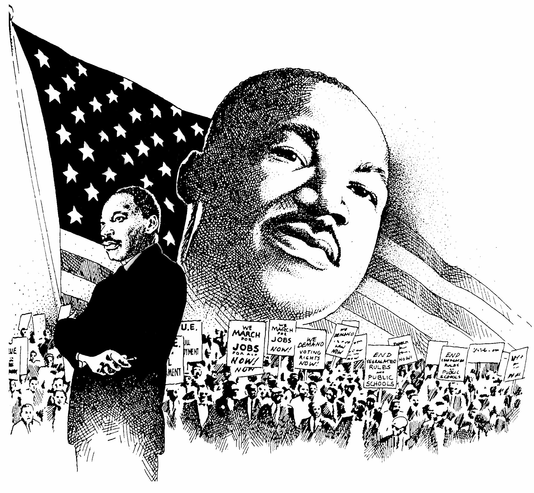 Martin Luther King Jr Black And White Clipart Clipground