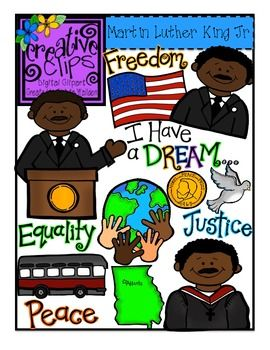 Martin Luther King Jr. Clipart: {Creative Clips Digital.