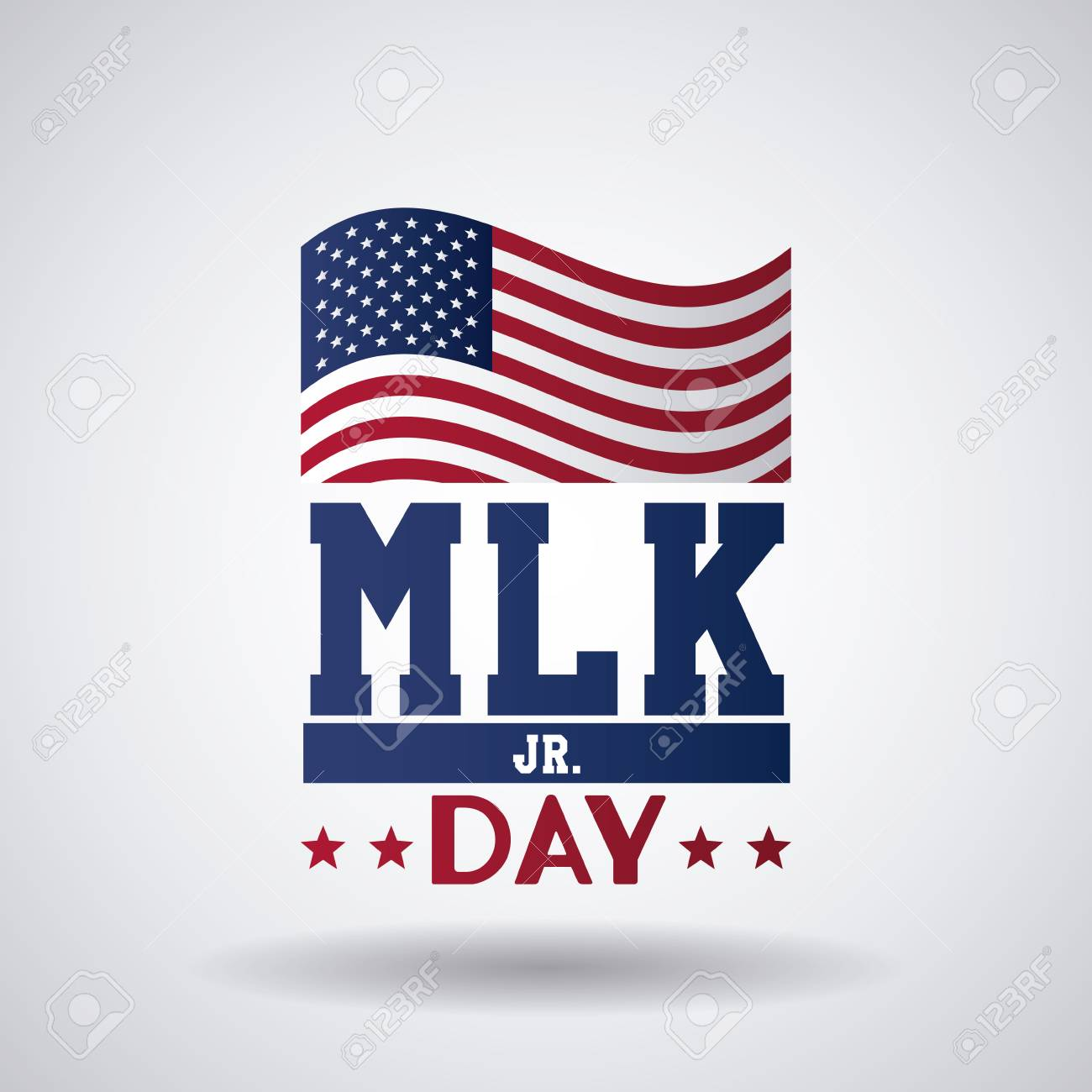 Martin luther king JR day icon vector illustration graphic.