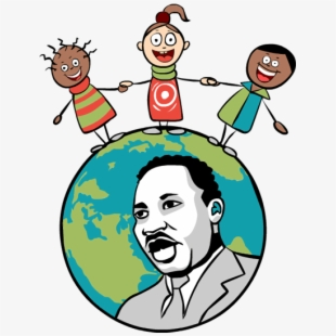 Martin Luther King Jr Day Cartoon Transparent Background.