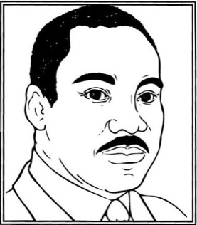 Martin Luther King Jr Clipart Black And White.