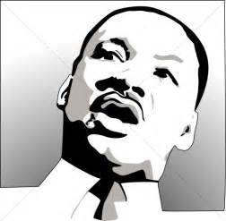 martin luther king jr black and white clipart #11
