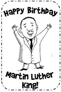Birthday Clip Art Images of Martin Luther King Jr.