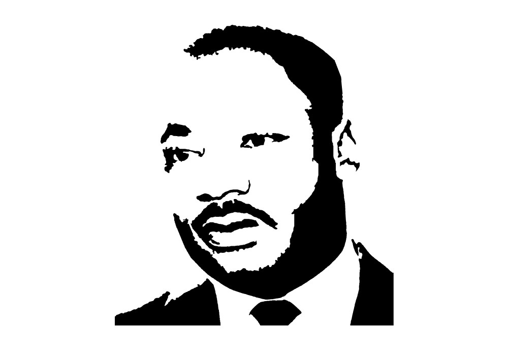 martin luther king jr black and white clipart - Clipground