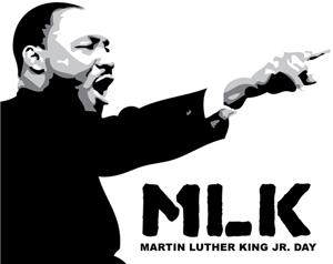 martin luther king jr black and white clipart #18