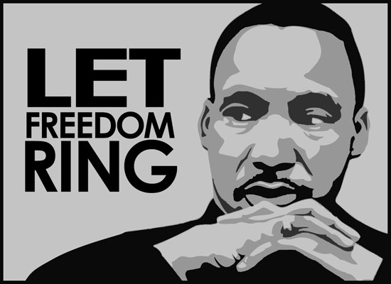 martin luther king jr black and white clipart #20