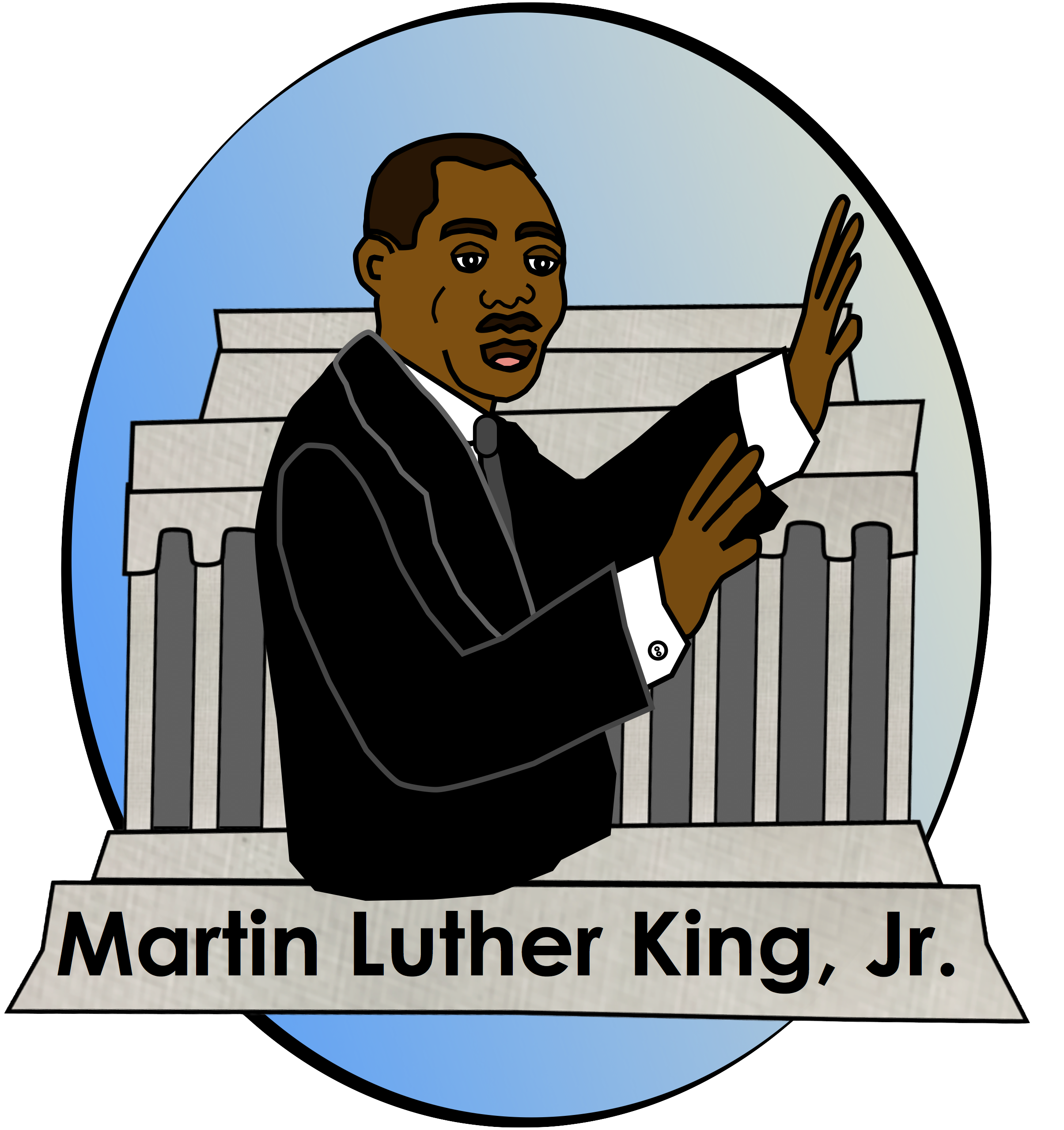 Free Martin Luther King, Jr. and Rosa Parks Clip Art.