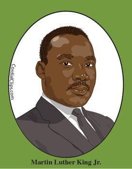 Martin Luther King Jr. Color Clip Art or Mini Poster.