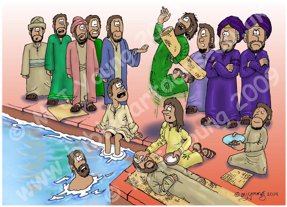 Bible Cartoons: John 05.