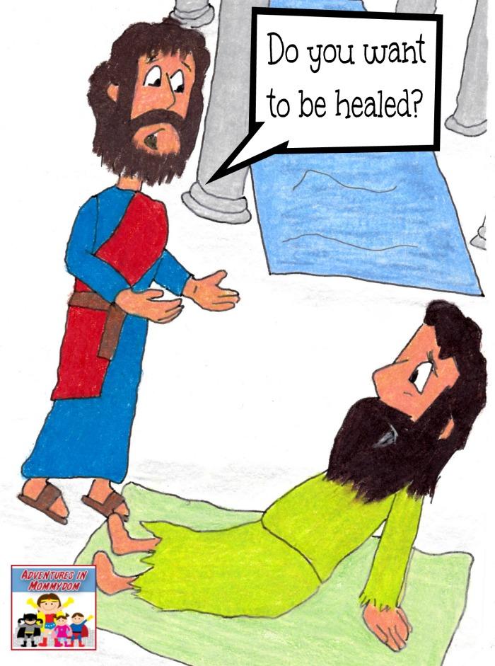 Jesus Heals Man By Pool.