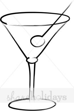 Clip Art Christmas Martini Clipart.