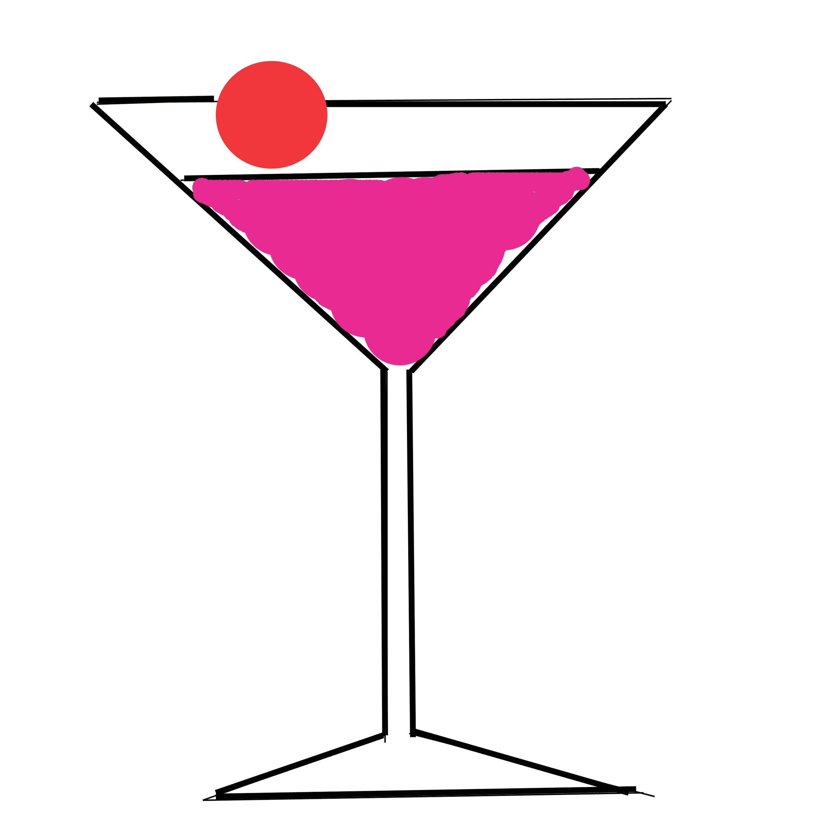 Cute martini glass clipart.