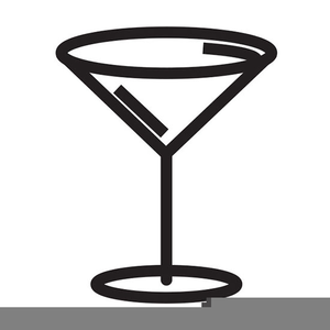Pink Martini Glass Clipart.