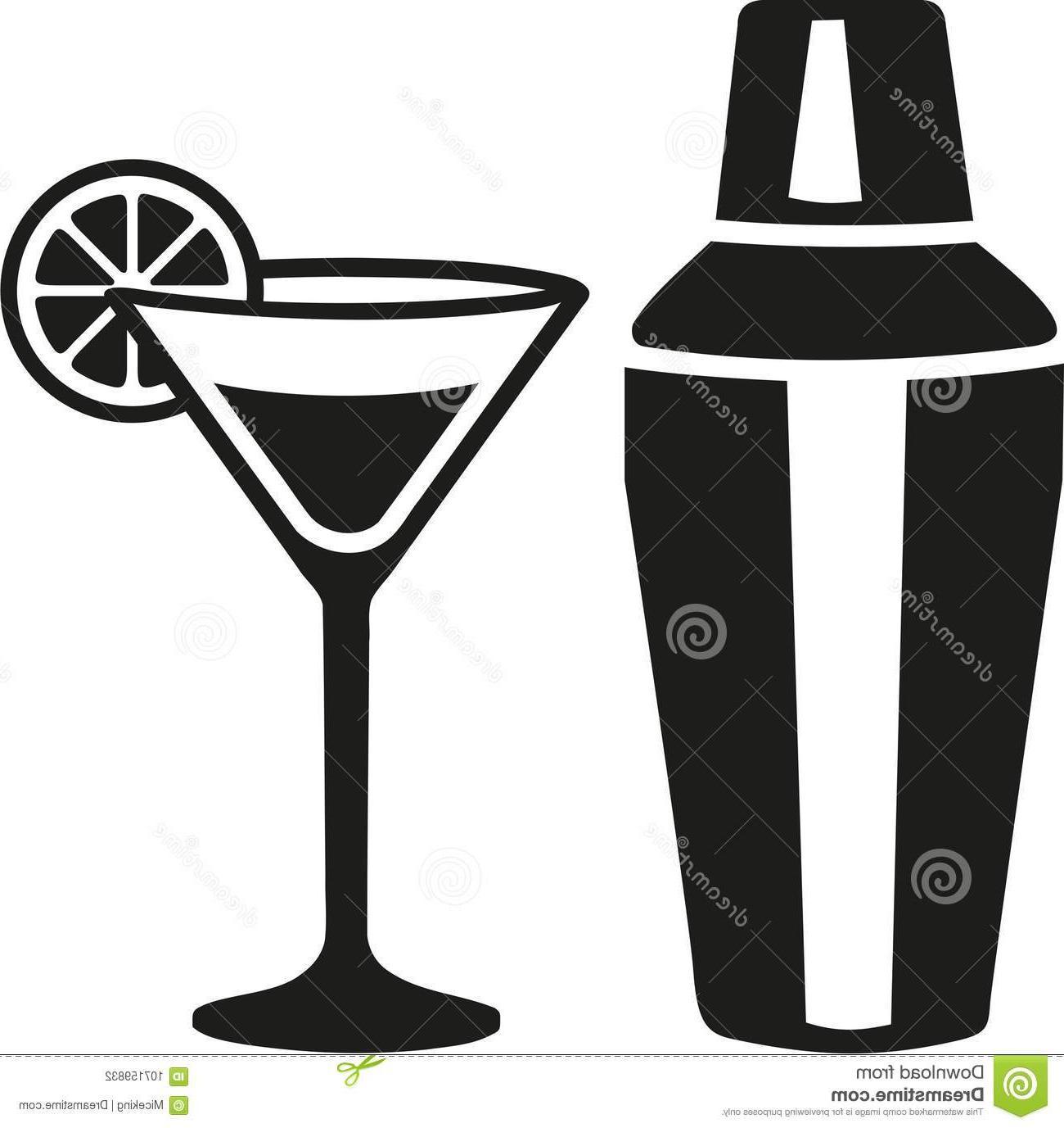 Unique Martini Cocktail Shaker Vector Image » Free Vector.