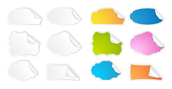 Peel Off Vector Stickers Set ~ Illustrations on Creative Market.