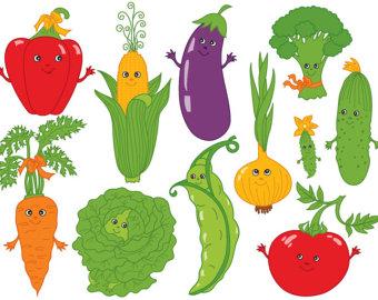 Items similar to Vegetable Clipart Digital Vegetable Clip Art.