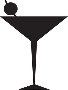 Martinis Clip Art.