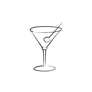 Martinis Clip Art, Wedding Graphics.