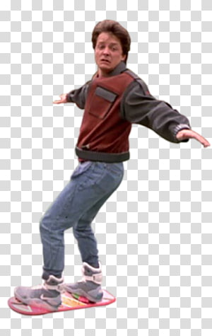 Marty Mcfly transparent background PNG cliparts free.