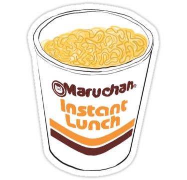 Maruchan\' Sticker by Doménica Rentería in 2019.