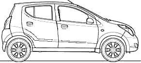 2009 Maruti Suzuki A Star Alto Hatchback blueprints free.