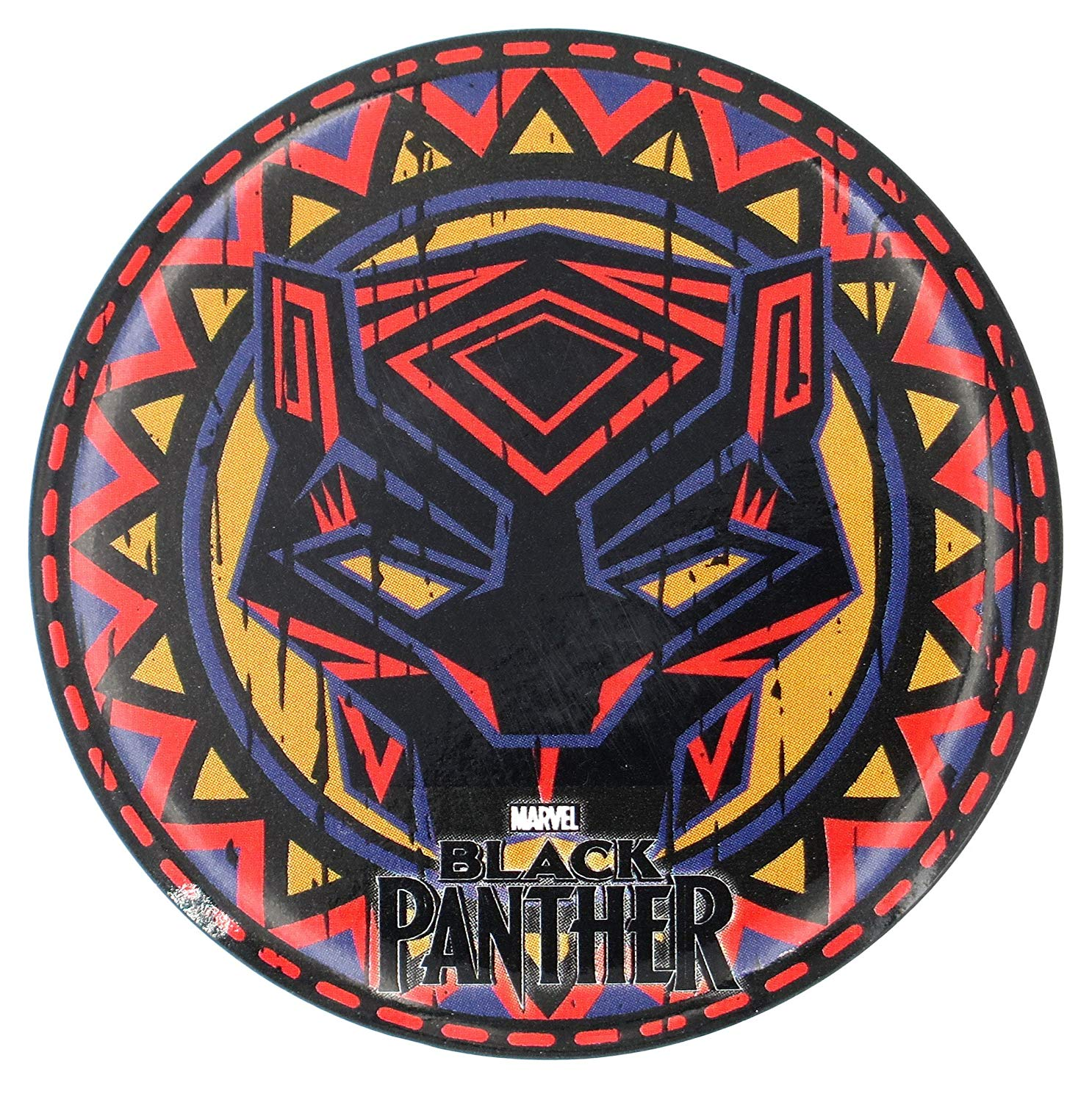 Amazon.com: Marvel Black Panther Tribal Pattern Button.