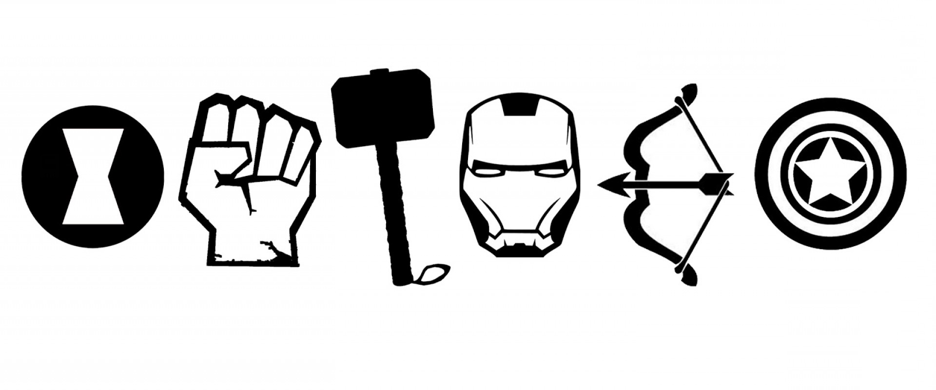Avengers Clipart Black And White.