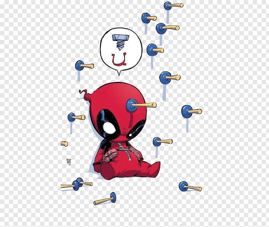 Deadpool surrounded by bullets illustration, Spider.