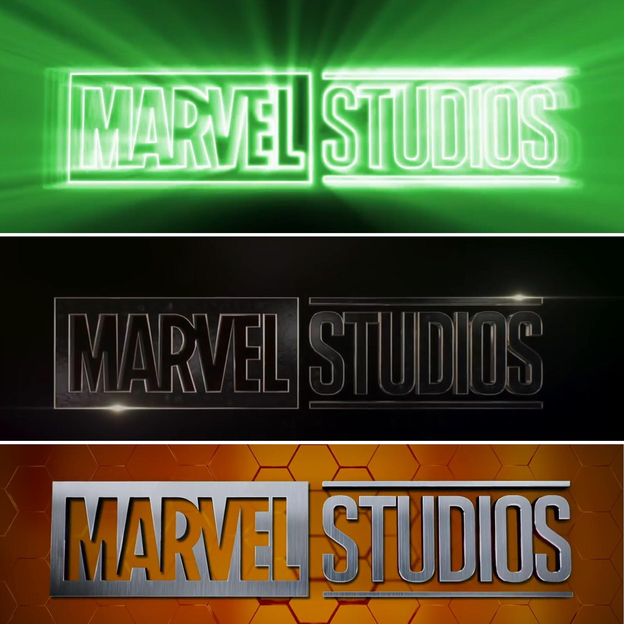Really liking the last 3 Marvel Studios intro logos, for the.