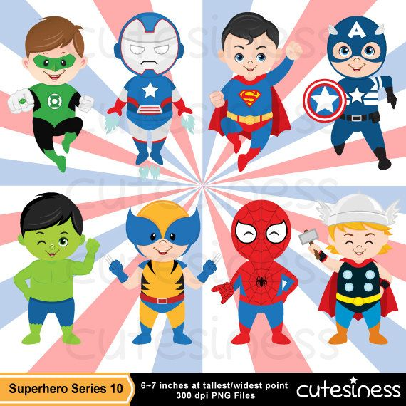 Superhero Digital Clipart, Superhero Clipart, Superhero clip.