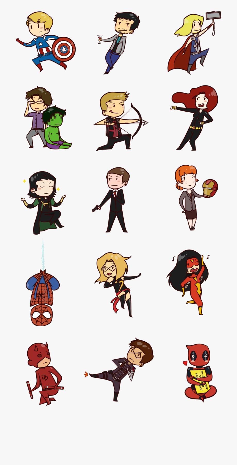 Chibi Marvel Superheroes.