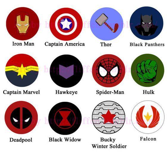 BOGO FREE! Superheroes Marvel logos comic characters Cross.