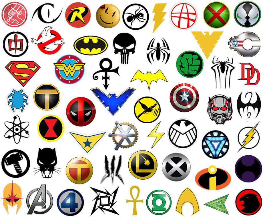 marvel superhero symbols.
