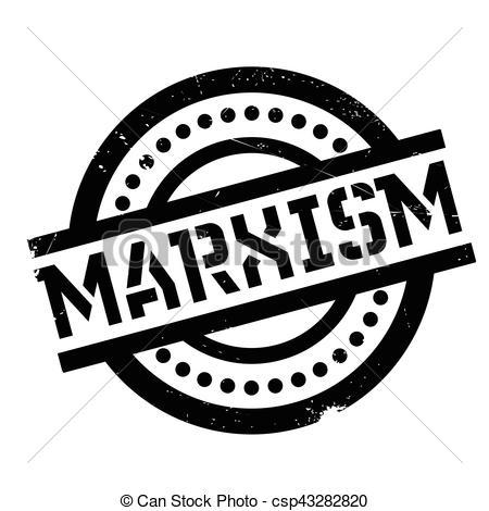 Vector Illustration of Marxism rubber stamp. Grunge design with.