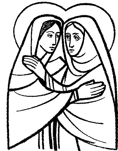 mary and elizabeth clip art #6